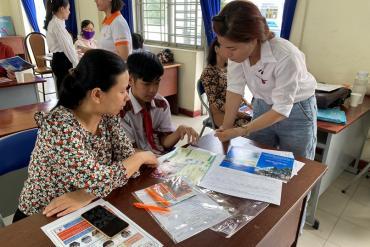 Tham gia tư vấn hướng nghiệp tại các Trường THCS trên địa bàn Huyện Củ Chi
